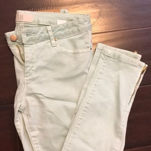 Zara Cute and comfy mint colored cropped jegging